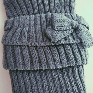 Accessories - Warm Knitted Leg warmer | Women | Grey Colour